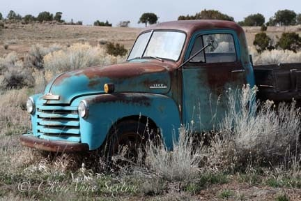 Old Blue Chevy Pickup Vintage Memorabilia Rusty Turquoise