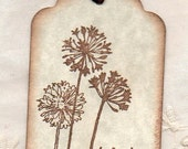 100 Wedding Wish Tags Dandelion Wishes For Wishing Tree - Guest Book AlternatIve Vintage Place Card Label Hang Tags