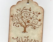 50 Wedding Wish Tree Tags, Elegant Autumn Fall Tree Wish Wishes Tags, Escort Cards, Wedding Tags, Alternative Guest Book -  Vintage Style