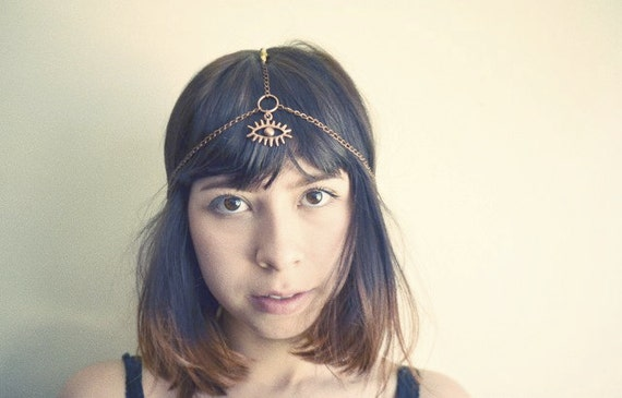 Third Eye Chakra Beaded Head Chain