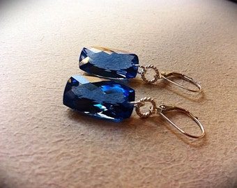 Luxury London Blue Topaz Sterling Earrings