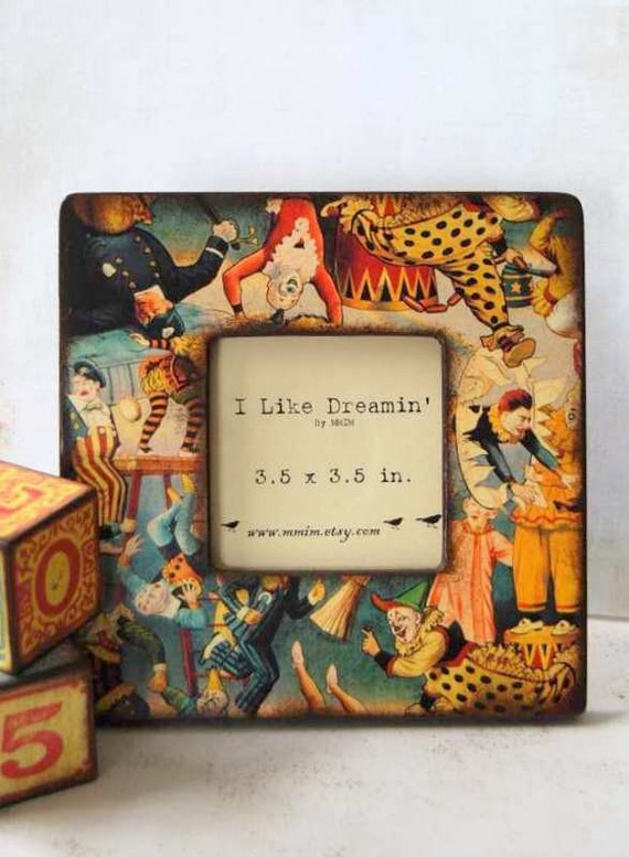 Le Cirque Picture Frame, Wood frame, instagram frame, Photo frame, Unique frames, Circus theme, Vintage style, Handmade