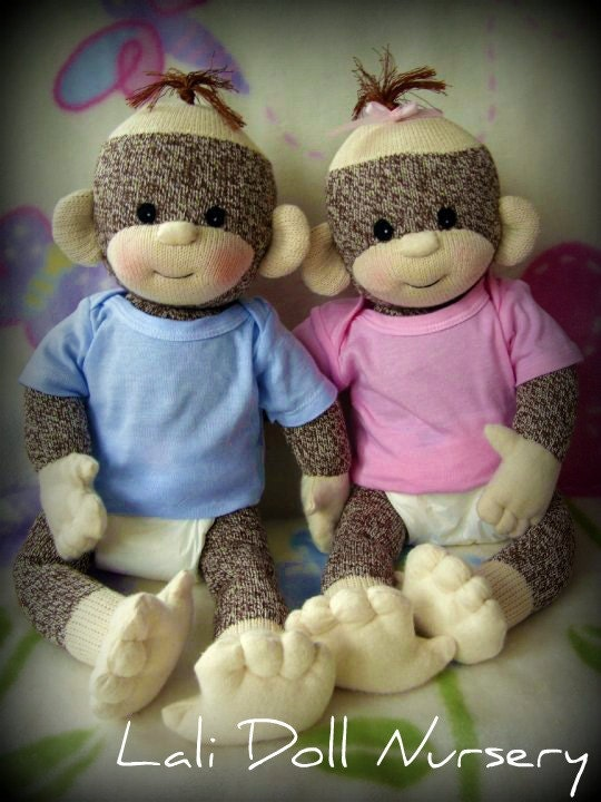 Pdf Pattern Baby Sock Monkey