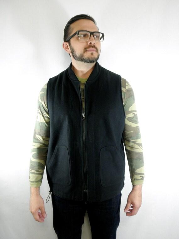 Black Filson Mackinaw Zip Up Vest Men's size 40-42