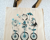 The Amazing Unicycle Show Tote Bag