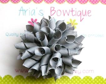 Silver Grey Korker Hair Bow