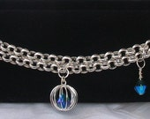 """Silver Plated Chain and Crystal """"branklet"""""""