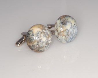 Opalite Cufflinks Great Pattern 18mm Very Sharp Stones Reduced  H-97