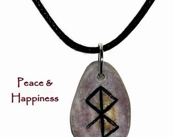 Peace and Happiness Bone Bind Rune Necklace