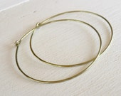 Yellow-gold Niobium Hoop Earrings Extra Large, Nickel Free Hoops, Hypoallergenic Hoops For Sensitive Ears, Anodized Niobium Hoop Earrings