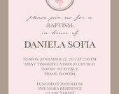 Cross Monogram Baptism/First Communion/Confirmation -  DIY PRINTABLE Photo Invitation - 4x6, 5x5 or 5x7