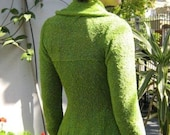 Lime Green Womens Cotton  and Silk Jacket