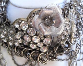 Couture Killer Asymmetrical Repurposed Vintage Necklace