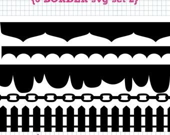 5 Border SVG DXF Set 2