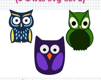 3 Owl SVG DXF Set 2