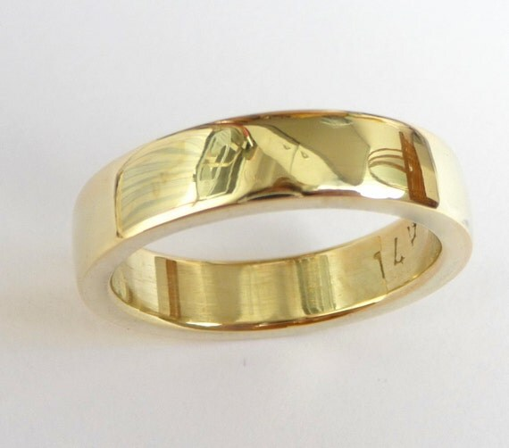 Mens wedding band mens gold ring men wedding ring thick