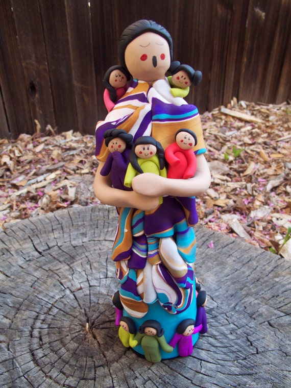Polymer Clay Native American Storyteller Doll