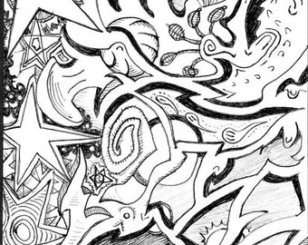 Abstract ink 434 print