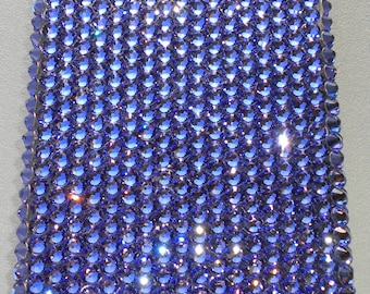 Tanzanite Purple Diamond Rhinestone BLING Back Case for Apple iPhone 4 4G 4S handmade using 100% Crystals from Swarovski