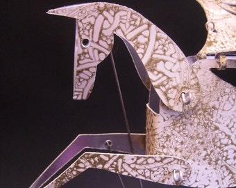 White and Gold Pegasus Automata