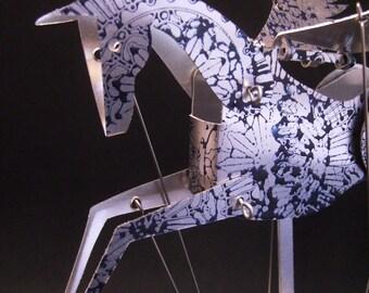 Aluminium Pegasus Automata stamped in blue.
