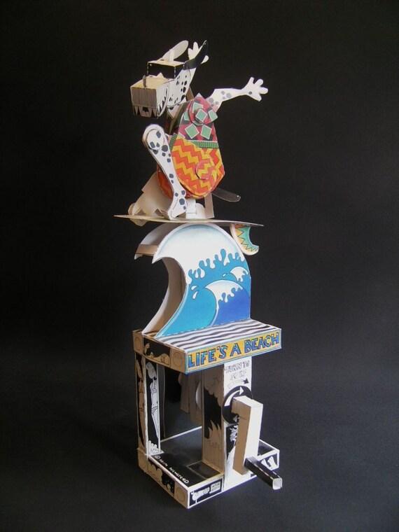 Surfing Dog card automata kit.
