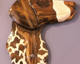 Pointer Handmade Intarsia Wood Dog Art