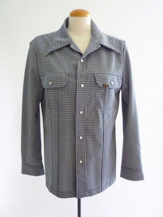 Lee leisure suit jacket - 70s gingham jacket