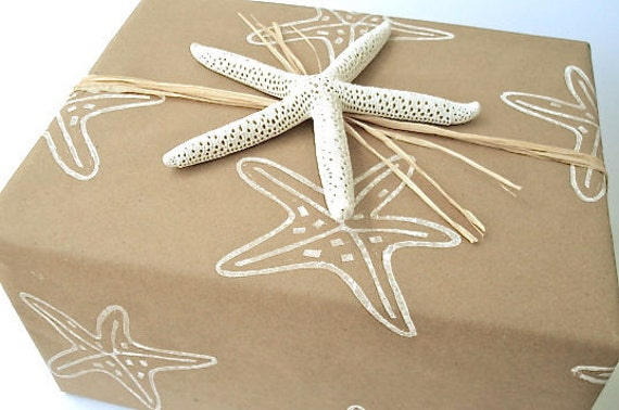 Wedding Gift Paper: Starfish Wrapping Paper