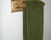 Log Hand Towel Rack 11-inches (Clear Finish) Rustic Log Decor Hand Towel Bar
