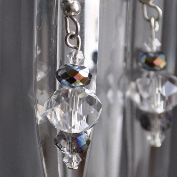 SALE - Glass Crystal Dangle Earring