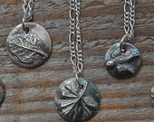 silver necklace, herb necklace, rosemary, sage, thyme, oregano, geranium, ready to ship, eco friendly, chef gift, gardner gift, any ONE