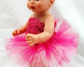 Pretty In Pink Doll Tutu - Fits American Girl Dolls and My gerneration Dolls Too