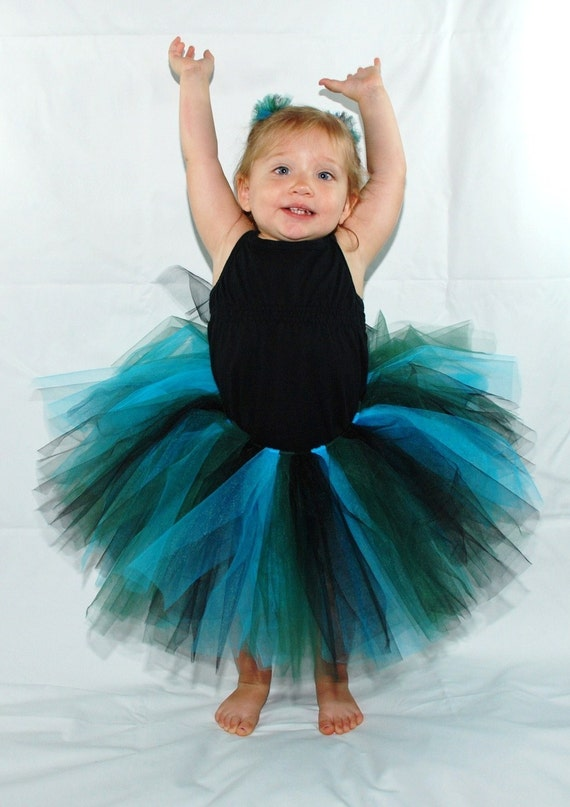 Natural Peacock Tutu - Custom fitted for babies and children