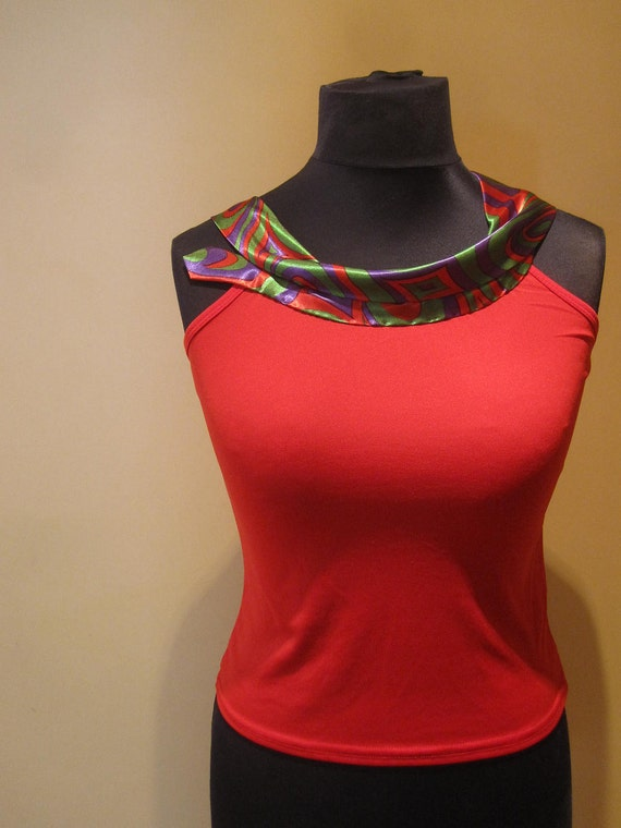 SALE / Repurposed Necktie Upcycled Camisole in Bright Red - Womens Upcycled Clothing