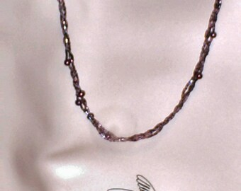 Braided purple necklace