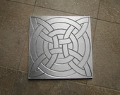 Celtic Knot Wall Art, 6 x 6 inch Tile, Recycled Cast Aluminum, Made to Order