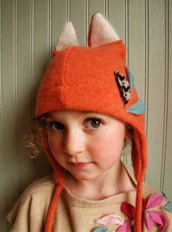 6-18 month size//Little Fox Eco Earflap Hat// Ready to Ship