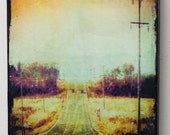 8x10 inch photo on wood, Lonely Road image on wood panel wall art, home decor, office art, kitchen art, bedroom art