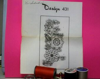 VIntage Crocheted Snowflakes Pattern - Design 431