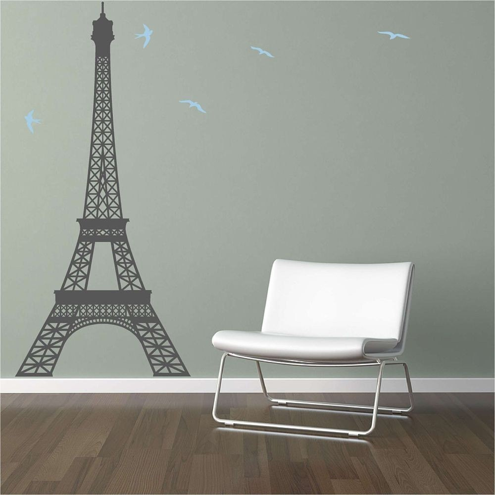 extra large eiffel tower vinyl wall decal. Black Bedroom Furniture Sets. Home Design Ideas