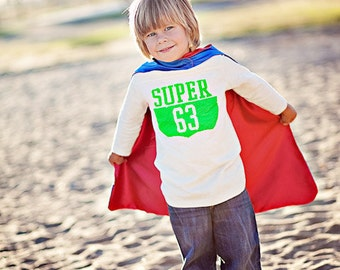 Ready to Ship - Childrens Superhero Cape - Blank Reversible hero cape for boy or girl -  birthday gift - Quick ship - Fast Shipping