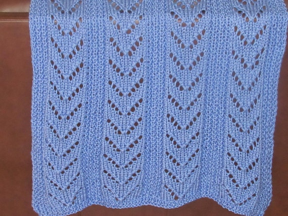 AFGHAN KNIT special needs lap blanket Hand knitted in