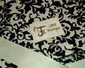 Twill Fabric Labels, one and one-quarter inch ribbon - PRE-PRINTED sample
