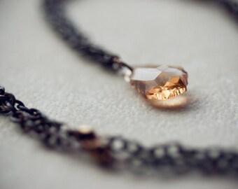 Topaz crystal necklace (Sale)