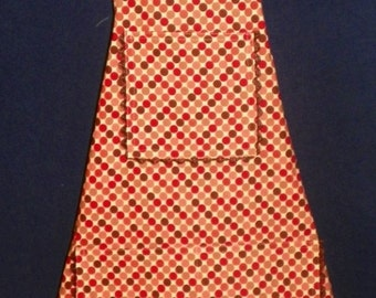 Full Front Apron - Colored Polka Dots
