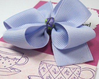 Tea Party Birthday Party favors, Lavender and Green Hair Bows