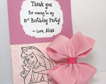Sleeping Beauty Birthday Party Thank You Cards, Handmade in Atlanta, GA