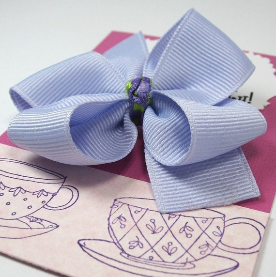 Tea Party Birthday Party favors, Lavender and Pink Hair Bows - set of 15