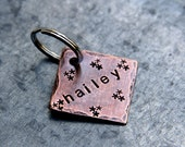 Custom Pet ID Tag - Hailey - in 1'' Square Copper